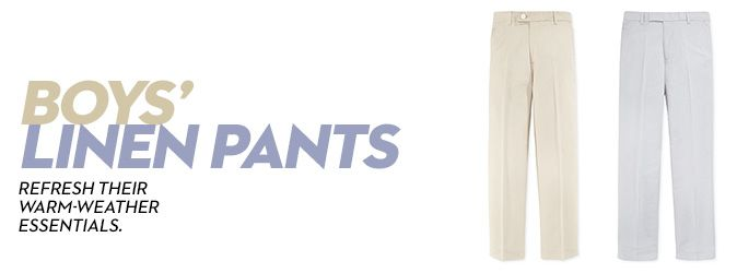 Boys Linen Pants