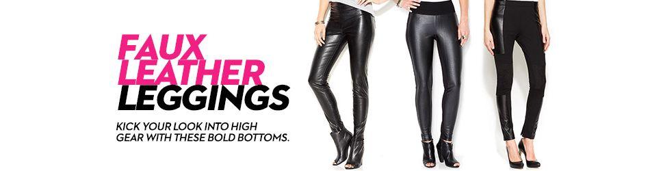 59083df3a9e79 Faux Leather Leggings: Shop Faux Leather Leggings - Macy's