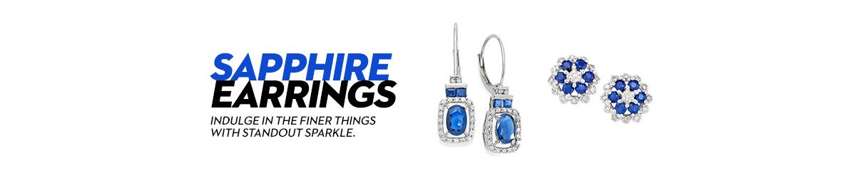 sapphire picture earrings and oval drop of diamond saphire