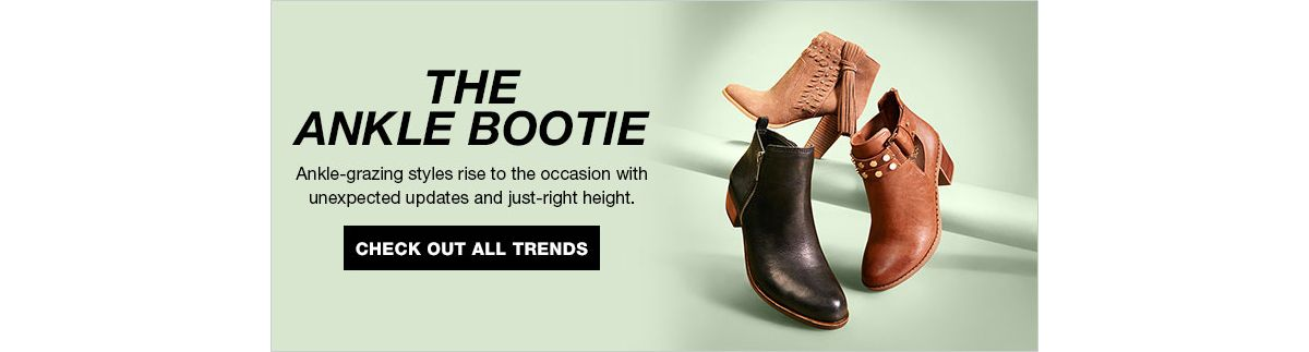 The Ankle Bootie, Ankle-grazing styles rise to the occasion with unexpected updates and just-right height, Check Out All Trends