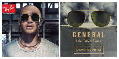 Ray-Ban, General, Bold, Tough, Ready, Shop The General